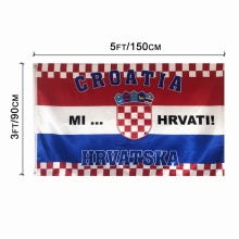 Nationales Design Europapokal Polyester Kroatien Nationalflagge
