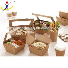 Disposable printing foldable take away chinese food packing box,food packaging box,free samples
