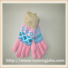 mulheres de basto Inverno malha luvas com dedos