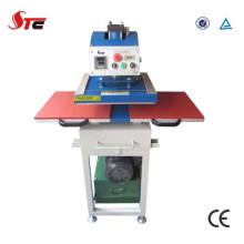 Machine hydraulique de presse de transfert de chaleur de double station