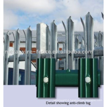 W type palisade fence