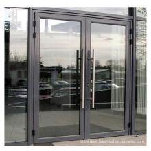 Powder coated energy saving lasted design  double glazing bullet proof doors