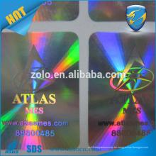 La marca del logotipo de la etiqueta engomada del holograma de ZOLO protege el uso para las lámparas