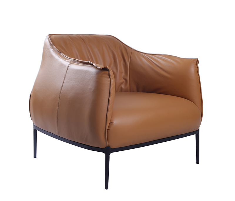 Arhcibald Armchair Version In Brown Leather