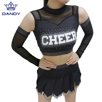 Schwarze All-Star-Cheerleader-Uniformen