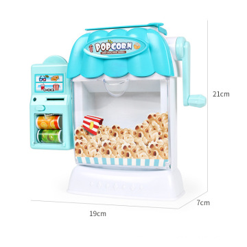 2020 hot selling item educational candy machine cart corn popper pretend plastic food toys for kids