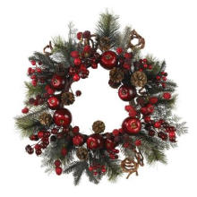 22in. Vibrant Multi-Colored Wreath with Stunning Apples and Berries (MY310.257.00)