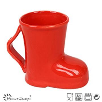 14oz Ceramic Red Boots Mug