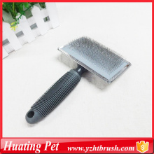 self-cleaning dog slicker brush