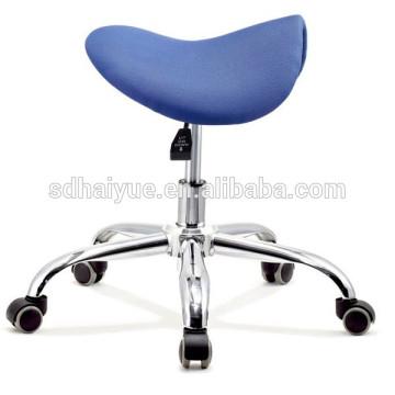 2015 NEW Luxury Blue Fabric Correct Ergonomic Sport Saddle Stool, Saddle Barstools, Sadle Bar Stools