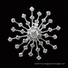 Boda barato ramo de girasol mujeres mayorista imitación perla rhinestone broche