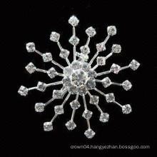 wedding cheap sunflower bouquet women wholesale imitation pearl rhinestone brooch