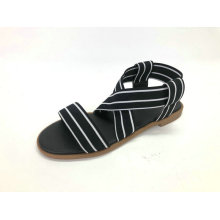 Ladies Sandal With Elastic Upper