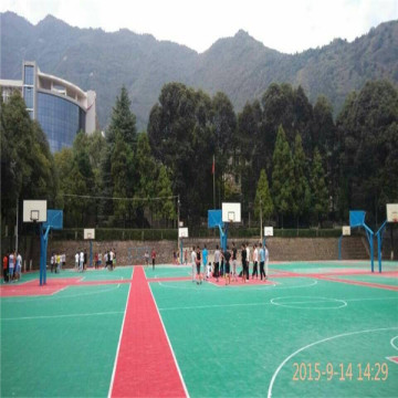 Fungsional Colorful Modular Interlocking Sports Court Floor