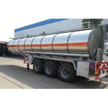 remolque de camión cisterna de combustible de acero inoxidable
