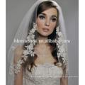Оптовая сшитое кружева аппликация белый вуаль венчания для новобрачных