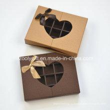 Индивидуальная коробка шоколада с вставкой и прозрачным сердцем