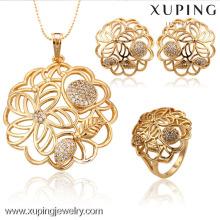 Joyería plateada oro de la venta al por mayor de la joyería de 63144-Xuping fijada con nuevo diseño