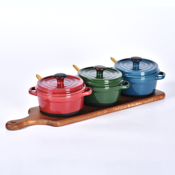 Gewürzschalen-Set Salt Crock Ceramic Seasoning Pot