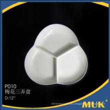 Fabrica de la multa del recorrido de encargo de la placa redonda de cerámica pequeña