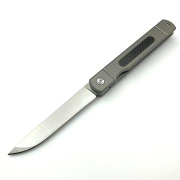 Fibra de Carbono Assistida Abertura EDC Pocket Knife