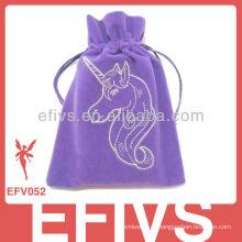 Lavender Custom Velvet Impresso Bolsa