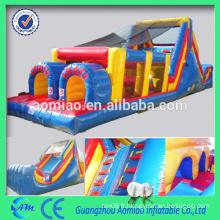 Parcours d'obstacles gonflable personnalisé Cours d'obstacles gonflable adulte bon marché à vendre