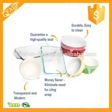 Aprobado por la FDA Caliente-vendiendo las tapas del silicón del estiramiento para todos los envases