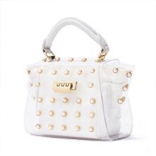 transparent pearl decoration hand bag elegant ladies clutch bag designer brand handbags for women