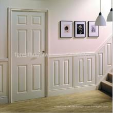 Zeitgenössischer moderner Stil Hoher Kern Solide Kern Weiß Innen Holz Flush Tür