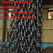 Cadena de anclaje de la promoción de la fabricación en la acción, cadena de ancla marina del acoplamiento de U3 105m m