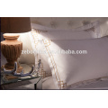 Duvet Cover and Pillowcase with Embroidery Design Luxury White Bed Linen