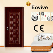 China manufacture melamine wood exterior door price