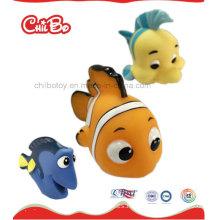 Proveedor de China de pescado colorido personalizado de juguete de plástico de vinilo