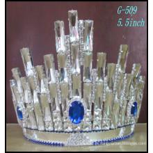 Moda coroa de cristal grande coroas de representação, coroas personalizadas grande strass