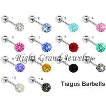 316L Steel Disco Ball Body Jewelry For Helix Piercing
