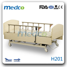 H201 cama de enfermagem de madeira quente