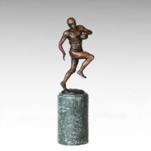 Estatua De Deportes Estatua Jugador De Rugby Escultura De Bronce TPE-712