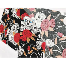 Mezcle la tela de impresión elástica de algodón Wind