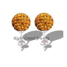 2014 nueva declaración joyería Crystal Ball Ear Studs