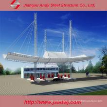 Design Großspannungs-verzinkte leichte Stahl-Raumrahmen-Tankstelle