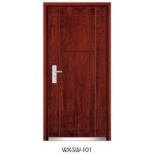 High-Quality Steel Wooden Door (WX-SW-101)