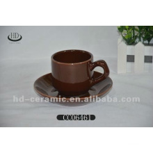 ceramic colour coffee cup and saucer