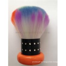 Novo estilo colorido alta qualidade kabuki face escova