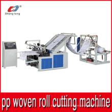 Новые поступления Китайский производитель PP тканая ткань Roll Cutting Machine