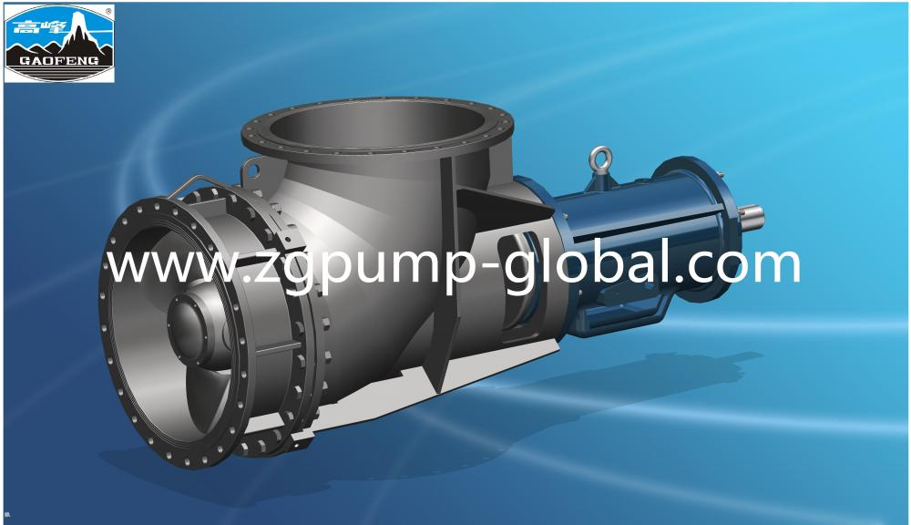 Horizontal chemical duplex  axial flow pump