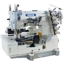 Máquina de coser de bloqueo plano con extractor grande para encuadernación con cinta combinada