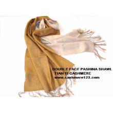 Pashmina à laine double face