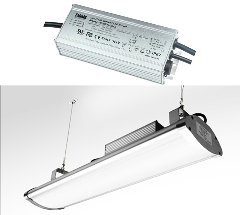 120W LED Linear High Bay Driver