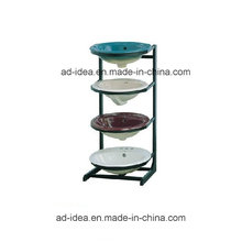 Four Layers Metal Display/Display for Wash Basin, Color Painted